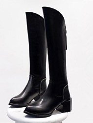 Women's Shoes Fashion Boots Chunky Heel Knee High Boots