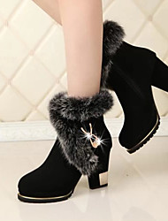 D&y Women's shoes Snow Boots Chunky Heel Platform Ankle Boots