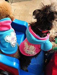 Dog / Cat Hoodie Blue / Pink Winter Bowknot Wedding / Cosplay