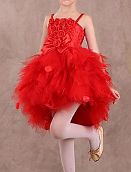 Santa Fairy Tutu Dress Kids Christmas Costume