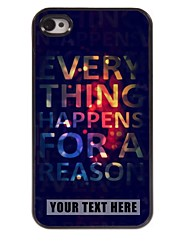 Personalized Phone Case - Elegant Design Metal Case for iPhone 4/4S