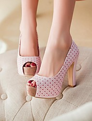 Women's Shoes Peep Toe Chunky Heel Pumps Shoes More Colors available