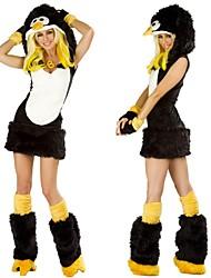 pinguim pele preto e branco trajes de Halloween