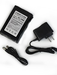 RQ 12680 DC12V 6800mAh Super Rechargeable Polymer Lithium-ion Battery - Black