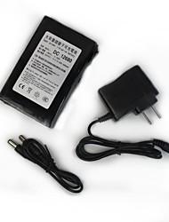 rq 12.680 DC12V 6800mah bateria de polímero de lítio-ion recarregável de super - preto