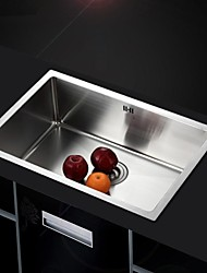 L24.8 Inch Single Bowl 304 Stainless Steel Kitchen Sink