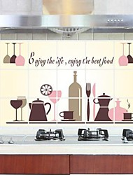 Wall Stickers Tableware Style Kitchen Anti - oil Stickers Decorative Sticker