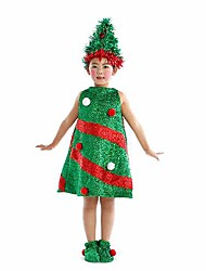 Santa Tree Dress Kids Christmas Costume