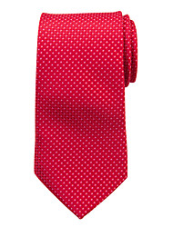 Red Checked Silk Tie