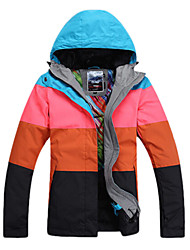 Gsou Snow Outdoor Four Color Splicing Women's Waterproof Skiing Down Jacket