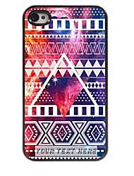 personalizzato del telefono caso - caso del metallo di disegno triangolare per il iphone 4 / 4s