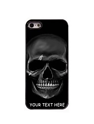 Personalized Phone Case - Black Skull Design Metal Case for iPhone 5/5S