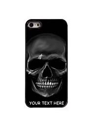 персонализированные телефон случае - черный череп дизайн корпуса металл для iPhone 5 / 5s