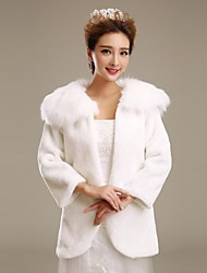 Fur Wraps / Wedding  Wraps / Fur Coats Coats/Jackets 3/4-Length Sleeve Faux Fur Wedding / Party/Evening Open Front