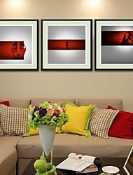 Láminas enmarcadas, abstracto dual fiebre afectados por conjunto naxart de 3