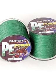 300M / 330 Yards Linha Traçada PE / Dyneema Linhas de Pesca Verde 18 lb 0.16 mm ParaPesca de Mar / Pesca Voadora / Isco de Arremesso /