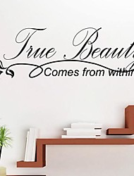 jiubai® Baum Schönheit Zitat Wandaufkleber Wandtattoo