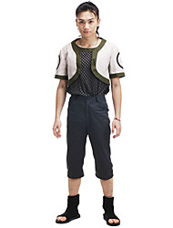 Inspired by Naruto Shikamaru Nara Anime Cosplay Costumes Cosplay Suits Patchwork Black Short Sleeve Coat / T-shirt / Pants