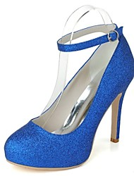 Women's Wedding Shoes Heels/Platform/Round Toe Heels Wedding/Party & Evening Blue/Pink/Silver/Gold