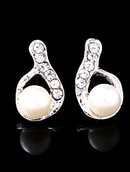 Stud Earrings Women's Alloy Earring Imitation Pearl