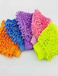 (5 PCS) LIT Chenille Fiber Single-side Car Washing Glove