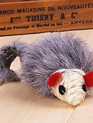 Cat Pet Toys Catnip / Feather Toy Rope / Mouse Gray Textile