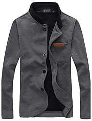 Brother Simple All-matched Cardigan Coat  588(Navy Blue,Dark Gray,Black)