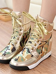 Women's Shoes Round Toe Wedge Heel Fashion Sneakers Shoes More Colors available