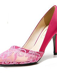 Women's Shoes Pointed Toe Stiletto Heel Satin Pumps Shoes More Colors available