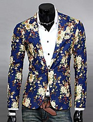 Men's Printed Wild Slim Blazer