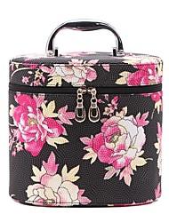 Women's Fashion Portable Cosmetic Flower Pattern Beauty Makeup Bag