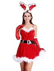 Red David's Deer Adult Christmas Woman's Costume One Size