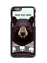 Personalized Phone Case - Black Bear Design Metal Case for iPhone 6