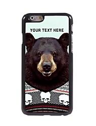 caso de telefone personalizado - urso caso design de metal preto para iphone 6