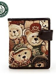 DAKA BEAR® Womens Designer Brand Wallet Zipper Bear Hasp Purse Card Holder