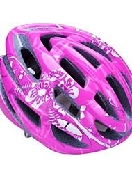 moda unisex y de alta transpirabilidad pc + epp casco de bicicleta (24vents) - aumentaron + plata rojo