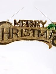 39cm Merry Christmas Hanging Board(2pcs) (Random Colour)
