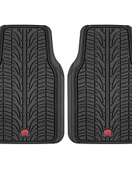TIROL 2 PCS/Set Semi Custom Heavy Duty Rubber Liners Front Van SUV Car Floor Mat Black/Gray
