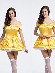 Yellow Adult Women's Halloween Dress Costume