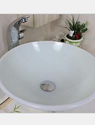 Phoenix Stone  Round Vessel Sink With Faucet ,Mounting Ring and Water Drain