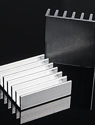 disipador de calor de aluminio / electrónicos bloque de aluminio del radiador / refrigeración - plata (20 x 20 x 6 mm) (10 piezas)
