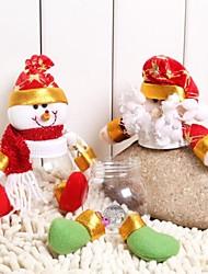Handicraft Santa Claus&Snowman Candy Jar for Christmas(Santa Claus:1#&Snowman:2#)