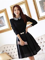 Loria revers cou moulante robe de style coréen des femmes