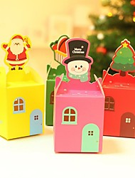 Colorful Christmas Decorating Folding Gift Boxes-Random Type(Set of 10)