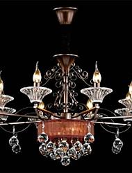 lustre de cristal modernos duas camadas que vivem 10 luzes