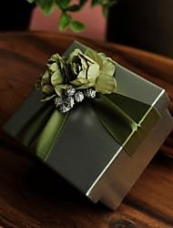 Green Flower Tinplate Wedding Box-Set Of 12