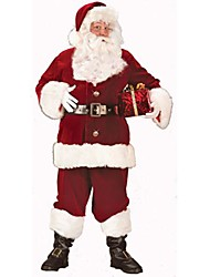 Dark Red Santa Claus Suit Adult Men's Christmas Costume