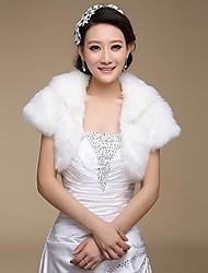 Wedding / Party/Evening Faux Fur Shawls Short Sleeve Fur Wraps