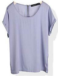 stilvollen reinen Farbe Alle Spiel loses T-Shirt Licht lila