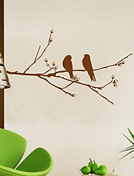 Wall Stickers Wall Decals,  Modern The branches of the birds PVC Wall Stickers